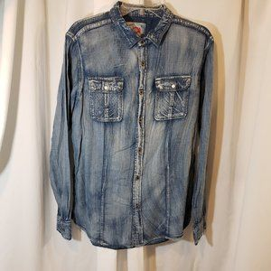 Tailored Recreation L garment dyed washed distress